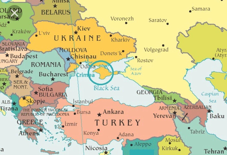 Map Moldova surrounding countries - Map of Moldova and surrounding ...